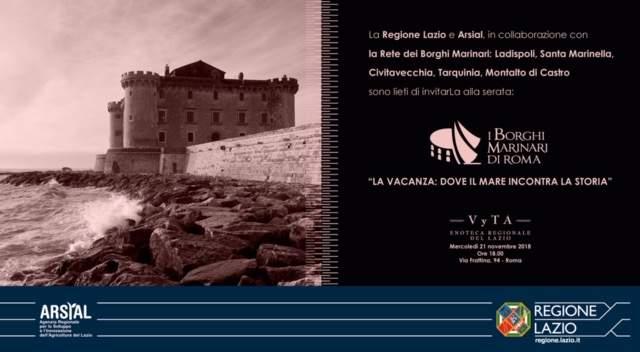 """Nasce """"Borghi marinari di Roma"""" il progetto integrato costiero nel litorale Nord del Lazio"""
