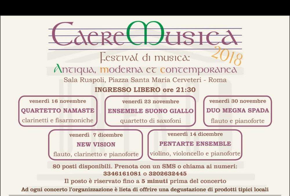 Cerveteri, a Sala Ruspoli 'Caere Musica 2018'