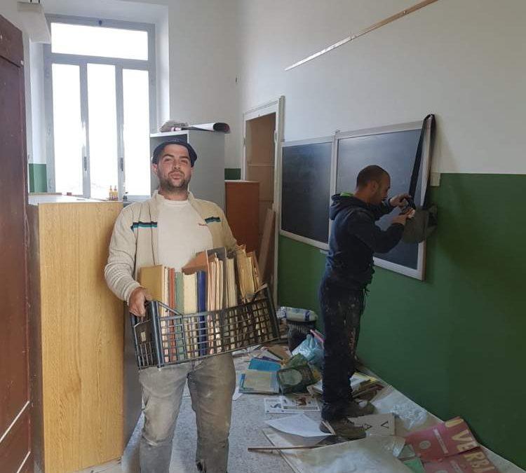 Allumiere, lavori in corso alla scuola di via Turati