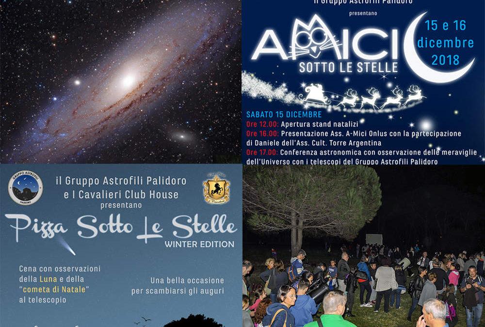 A dicembre speciali appuntamenti del Gruppo Astrofili Palidoro