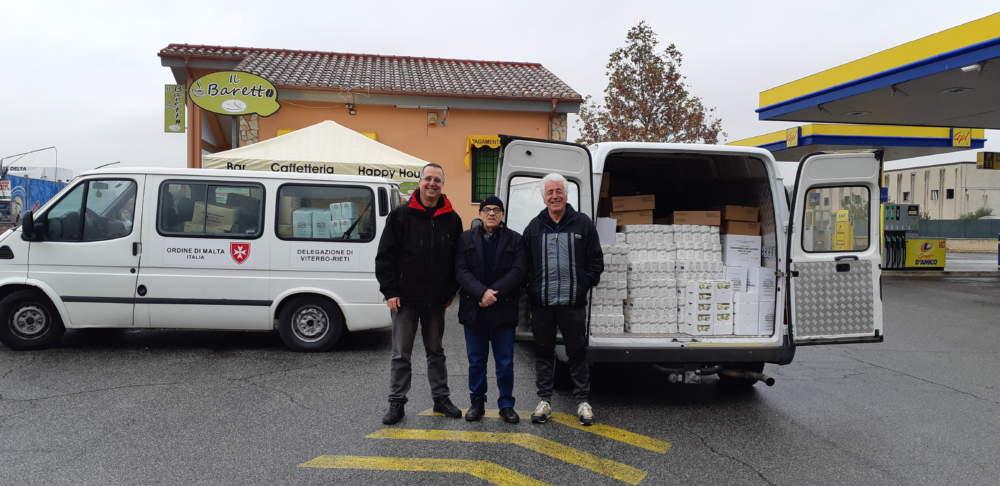 In arrivo per i bisognosi di Ladispoli 400 kg di cibo dall_Ordine di Malta
