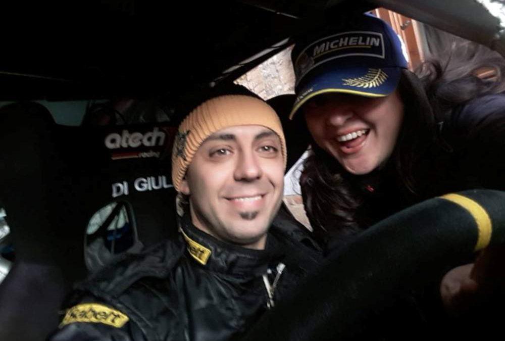 I piloti Roberto Di Giulio e Serena D'Amora al Rallyday della Fettunta