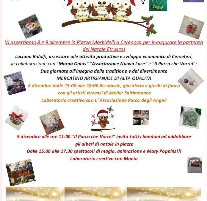 Il Natale Etrusco 2018 parte da Piazza Morbidelli a Cerenova
