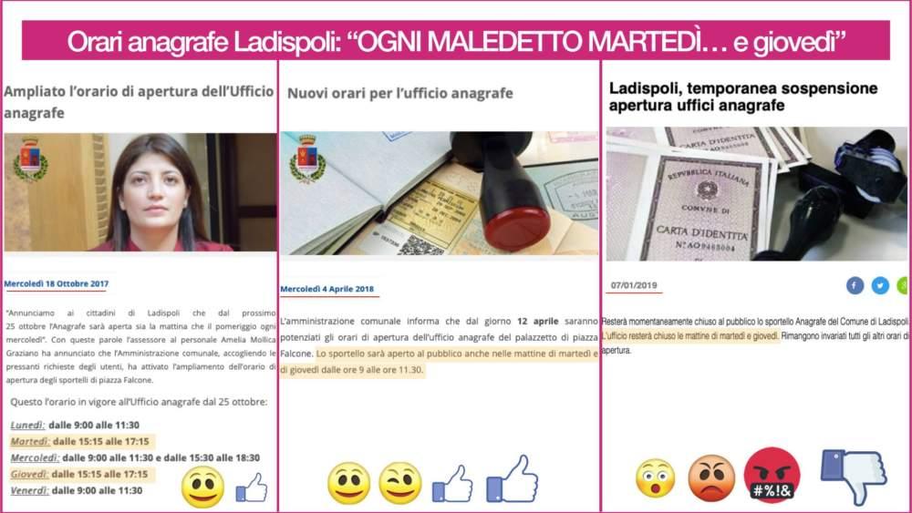 Mov. Ladispoli città critica per i disservizi all'anagrafe