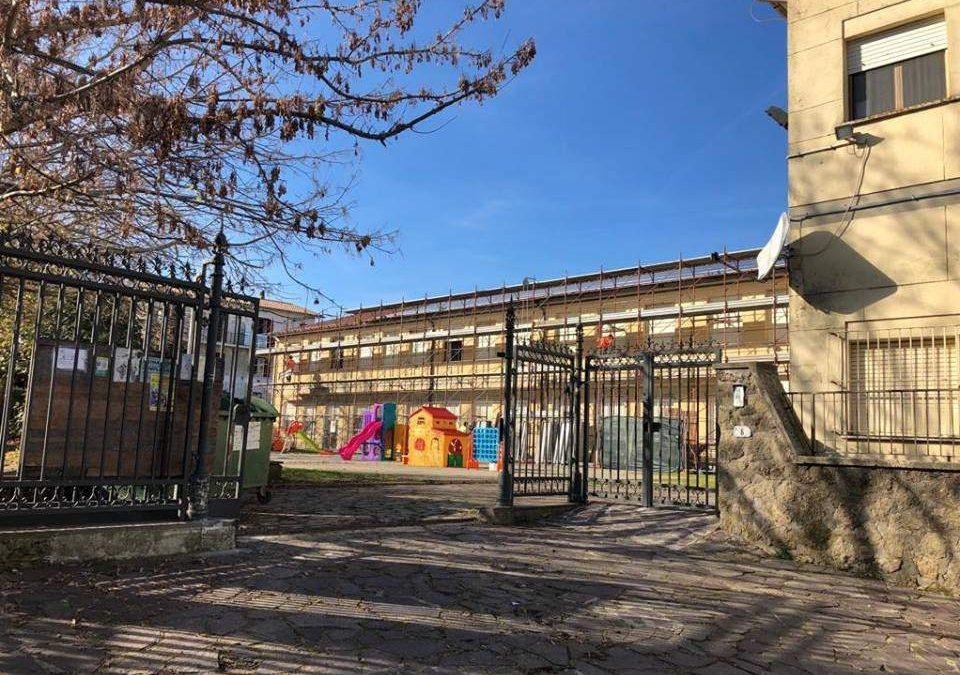 Anguillara, sistemato il tetto della scuola di via Verdi