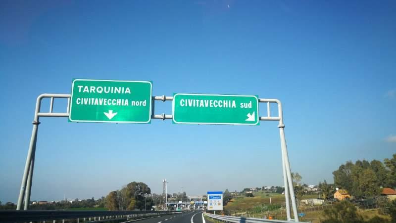 A12, chiusa l'uscita Civitavecchia sud per lavori dal 20 gennaio al 3 febbraio