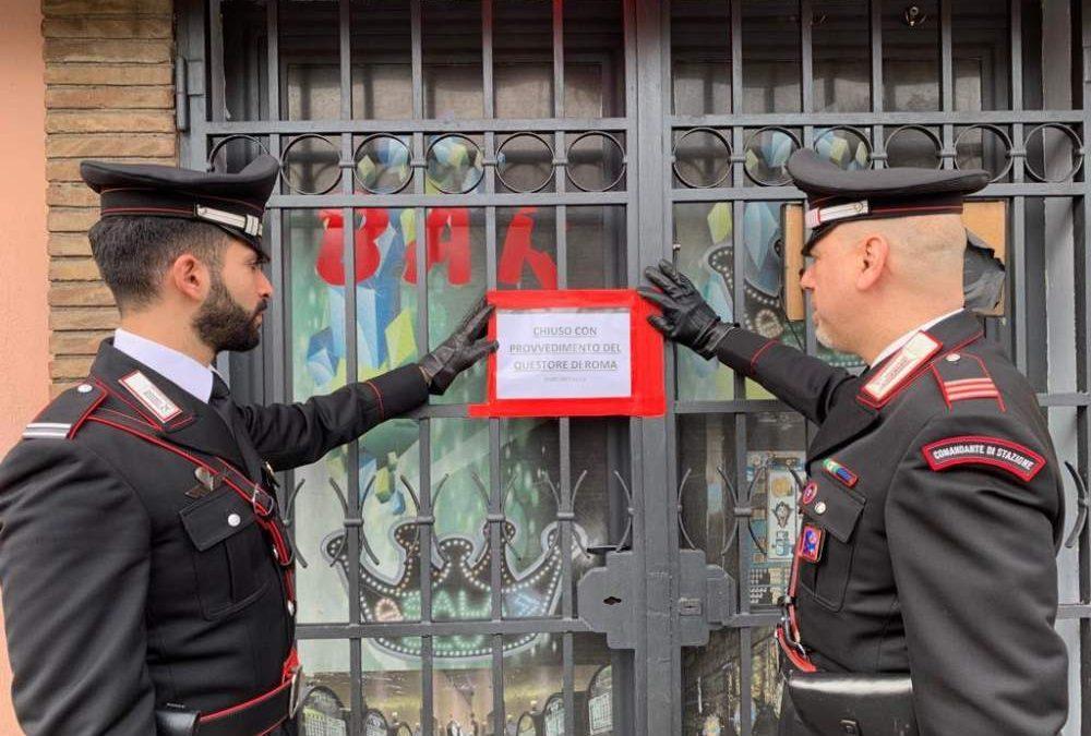 Chiusa sala slot ritrovo di pregiudicati dai carabinieri di Bracciano