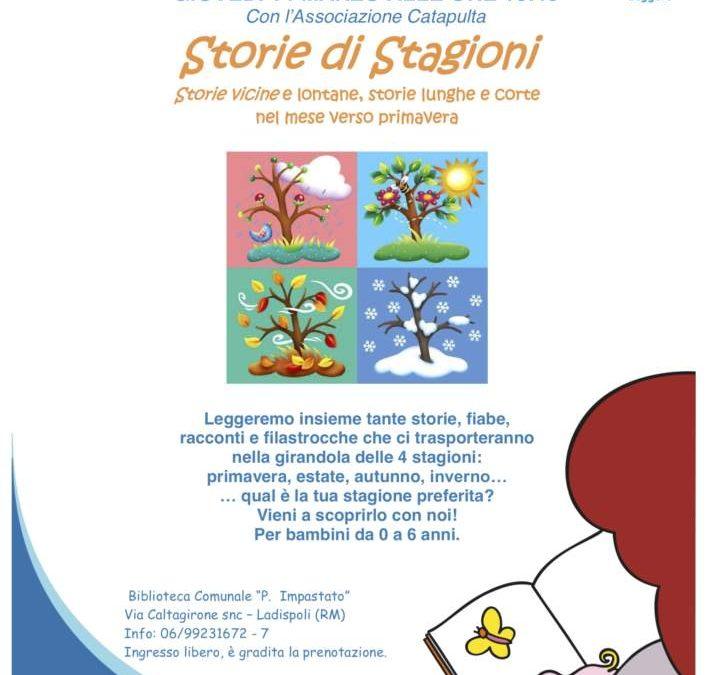 """""""Storie di stagioni"""" alla biblioteca comunale di Ladispoli"""