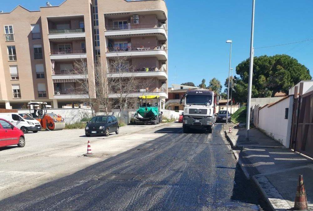 Civitavecchia, asfaltature in zona nord