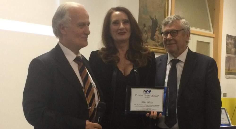 """Alla preside Fabia Baldi del liceo """"Pertini"""" di Ladispoli il premio """"Piero Romei"""""""