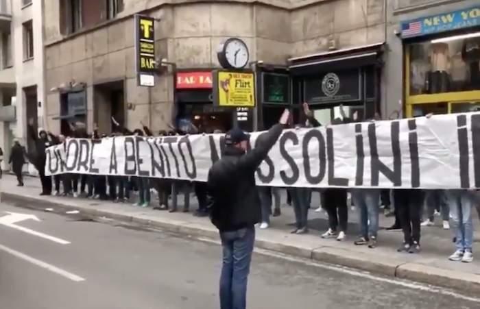 """Milan-Lazio, Irriducibili: """"Onore a Benito Mussolini"""" – VIDEO"""