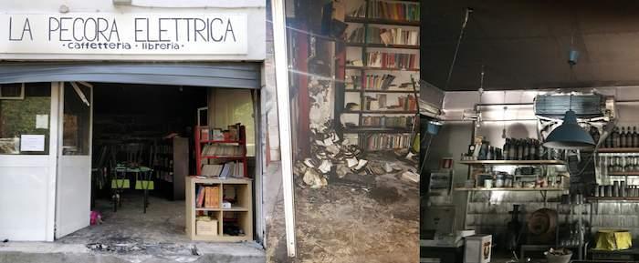"""Incendio a Centocelle, in fiamme la libreria La Pecora Elettrica: """"Siamo sconvolti"""""""