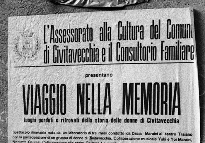 Civitavecchia, giornata culturale con Dacia Maraini