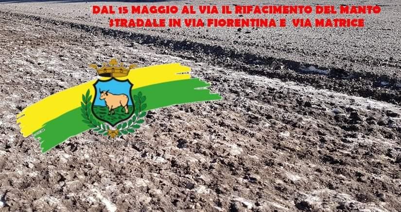 Manziana, domani il rifacimento stradale di via fiorentina e via matrice