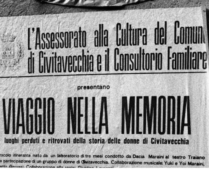 Civitavecchia, Dacia Maraini presenta il libro nell'aula Pucci