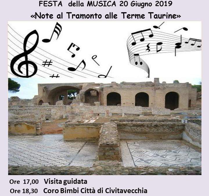 Civitavecchia, per la Festa della Musica giovedì c'è Note al Tramonto alle Terme Taurine