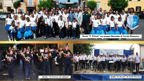 Canale Monterano, il raduno delle bande musicali