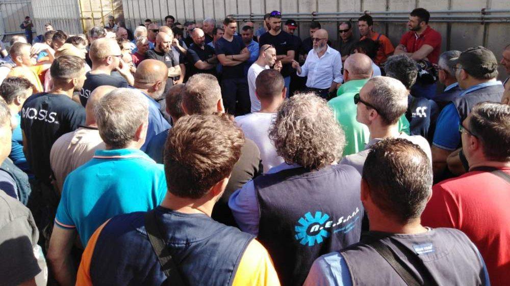 Civitavecchia, Tedesco dai lavoratori di Tvn in sciopero