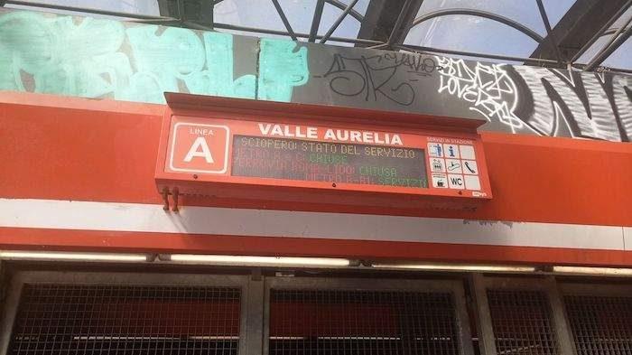 Sciopero a Roma: chiuse metro A e C, possibili riduzioni corse sulla linea B