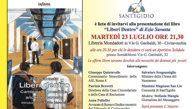 Civitavecchia, presentato domani il libro LIBeri Dentro di Ezio Savastano