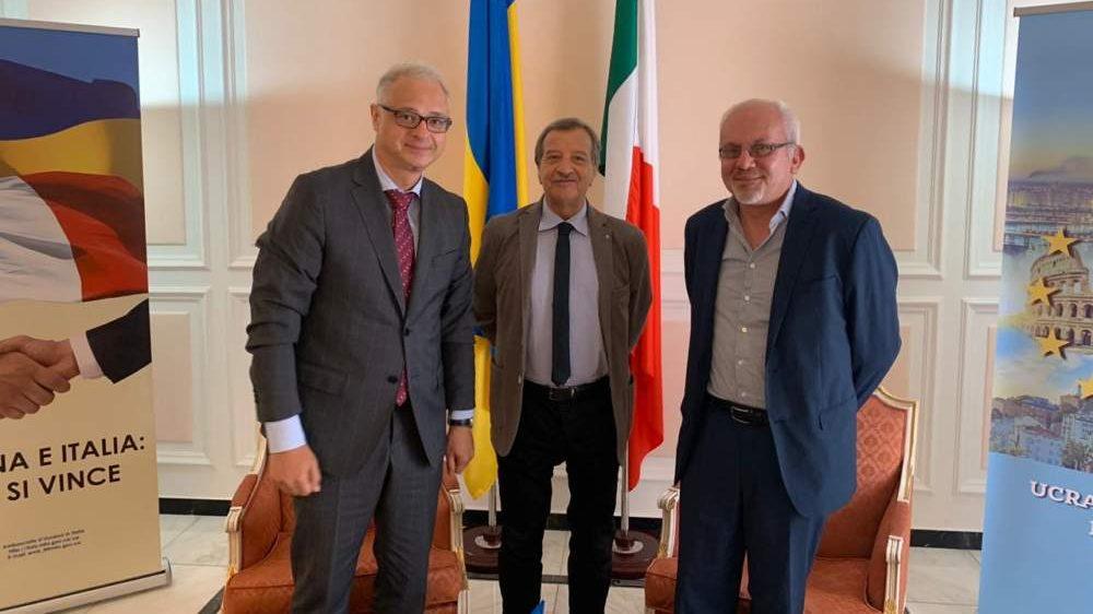 Santa Marinella, Tidei e D'Emilio ospiti dell'ambasciatore d'Ucraina
