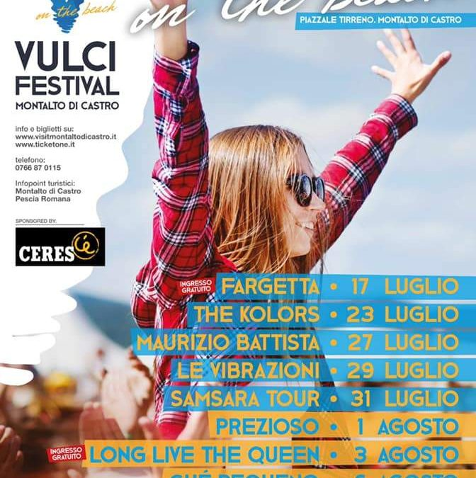 Fargetta apre il Vulci Festival on the beach