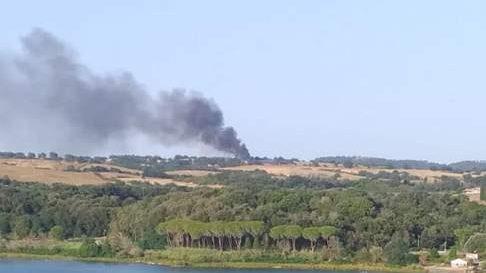 Incendio a Martignano