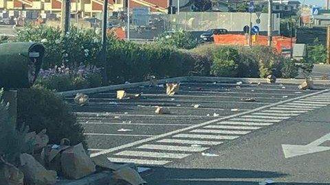 Ladispoli, ancora zozzoni nel parcheggio del fast food