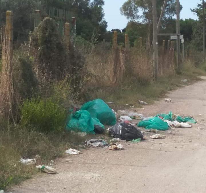 Ladispoli, Olmetto Monteroni discarica di rifiuti