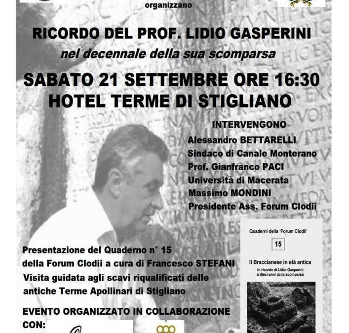 A Canale Monterano l'evento in ricordo del prof. Lidio Gasperini