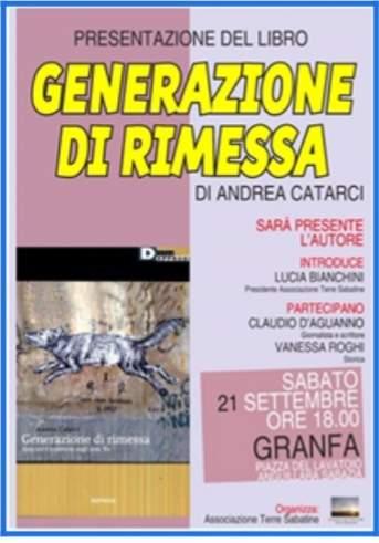 """""""Generazione di rimessa"""", la presentazione ad Anguillara Sabazia"""