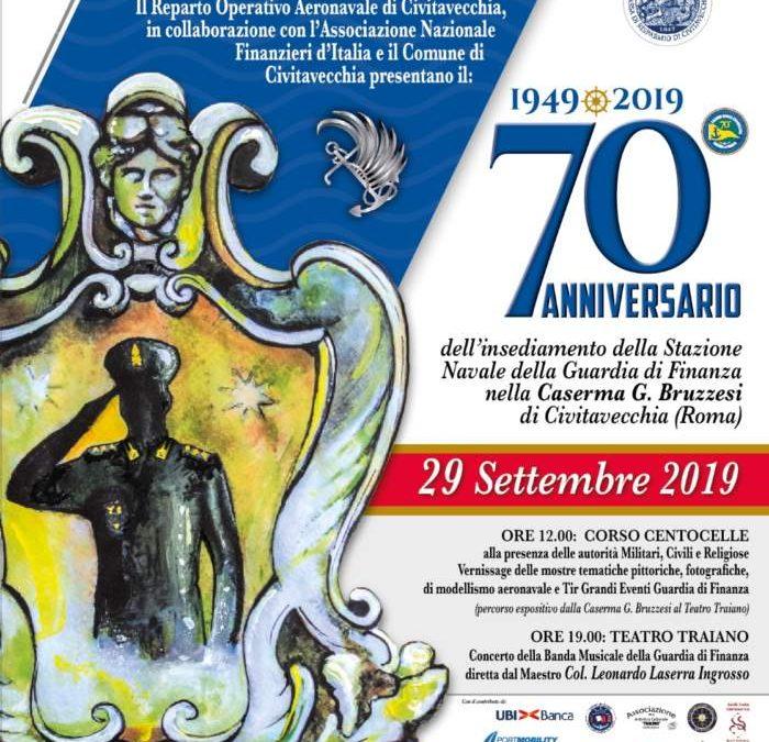 La città di Civitavecchia e la Stazione Navale della Guardia di Finanza: insieme da 70 anni.