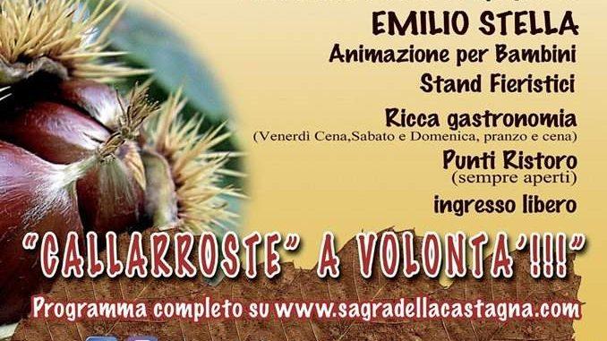 Sagra della Castagna locale a Manziana dall'11 al 13 ottobre