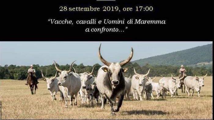 """""""Vacche, cavalli, uomini di Maremma a confronto"""" : appuntamento a Vulci"""