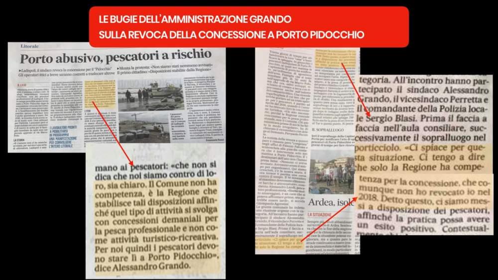 """Mov. Ladispoli Città su porto Pidocchio: """"E' stata la giunta a chiedere al funzionario la revoca della concessione"""""""