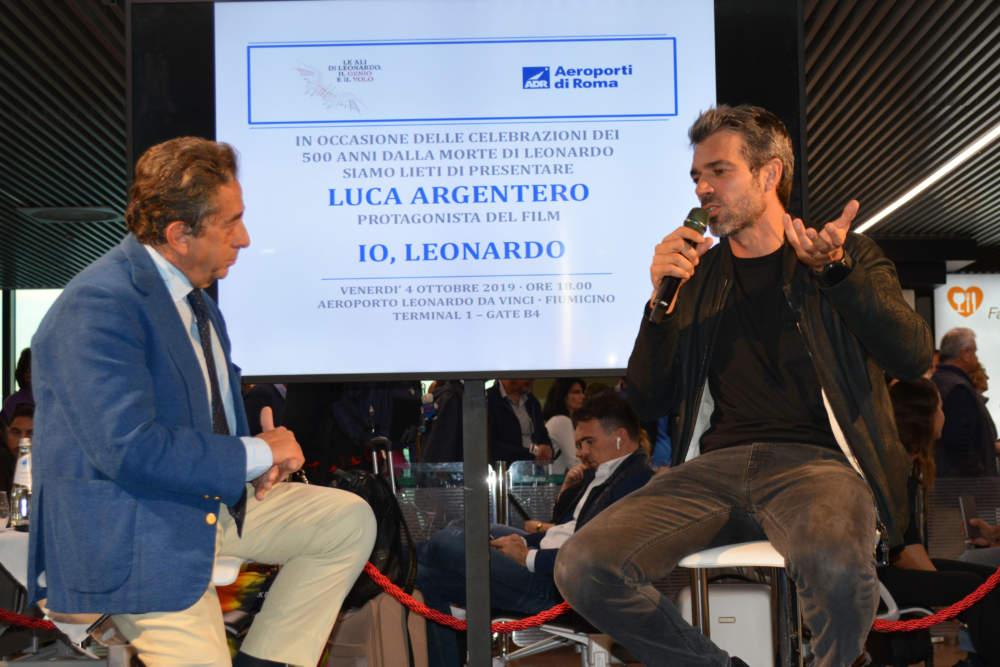 """Argentero presenta all'aerporto di Fiumicino """"Io, Leonardo"""""""