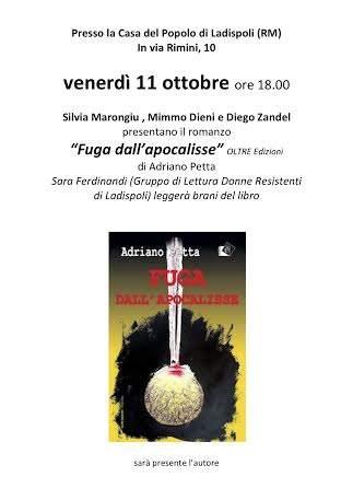 Ladispoli, Adriano Petta presenta il suo libro Fuga dall'Apocalisse