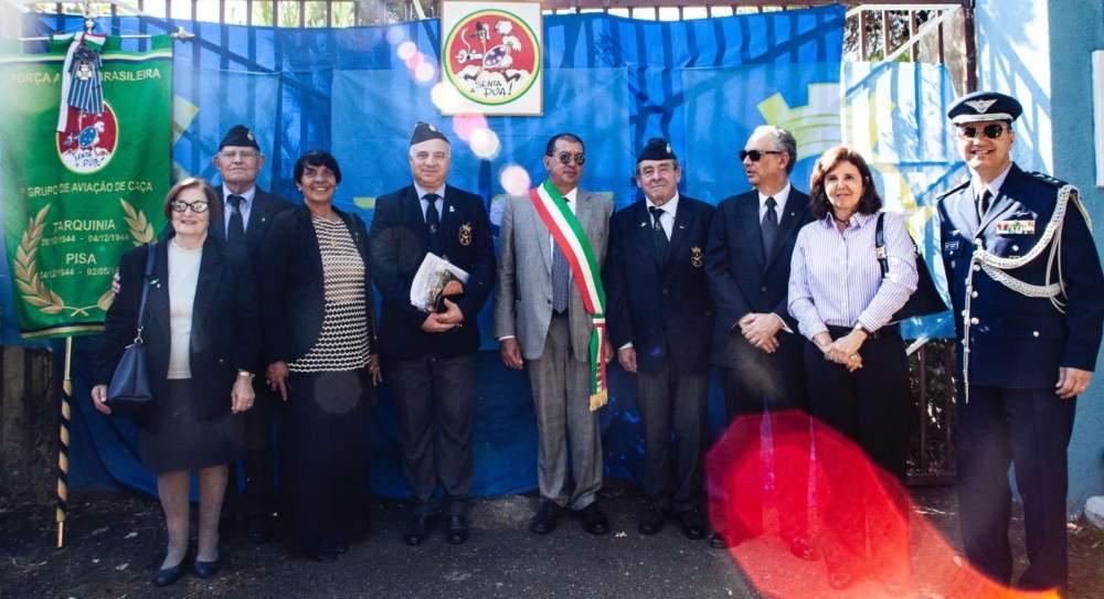 Tarquinia, visita dell'ambasciatore del Brasile in ricordo degli avieri della Fab
