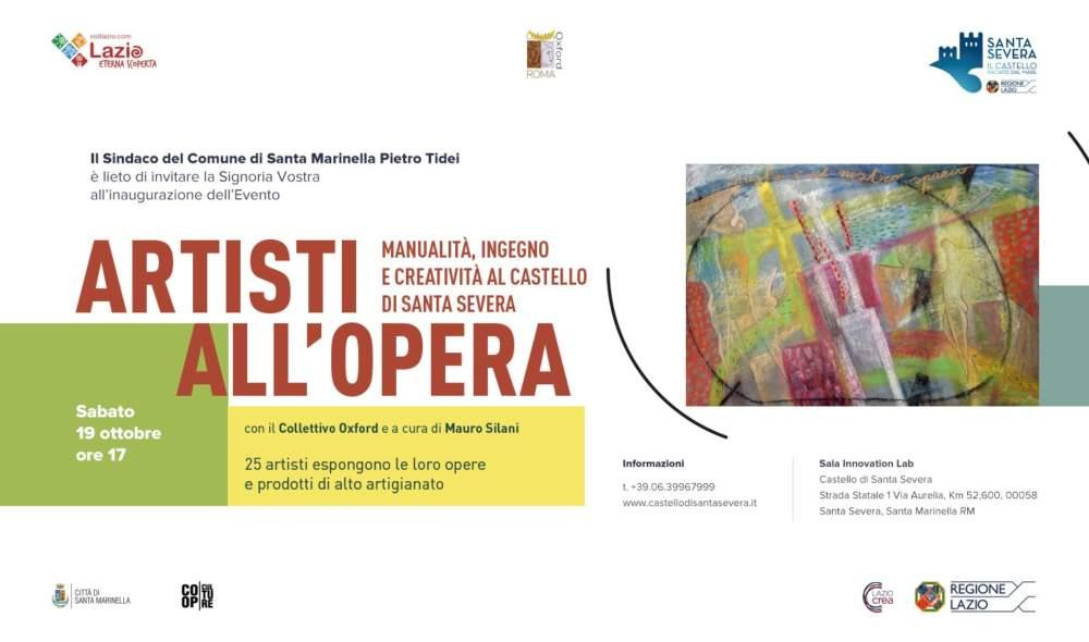 Santa Severa: al castello Artisti all'Opera