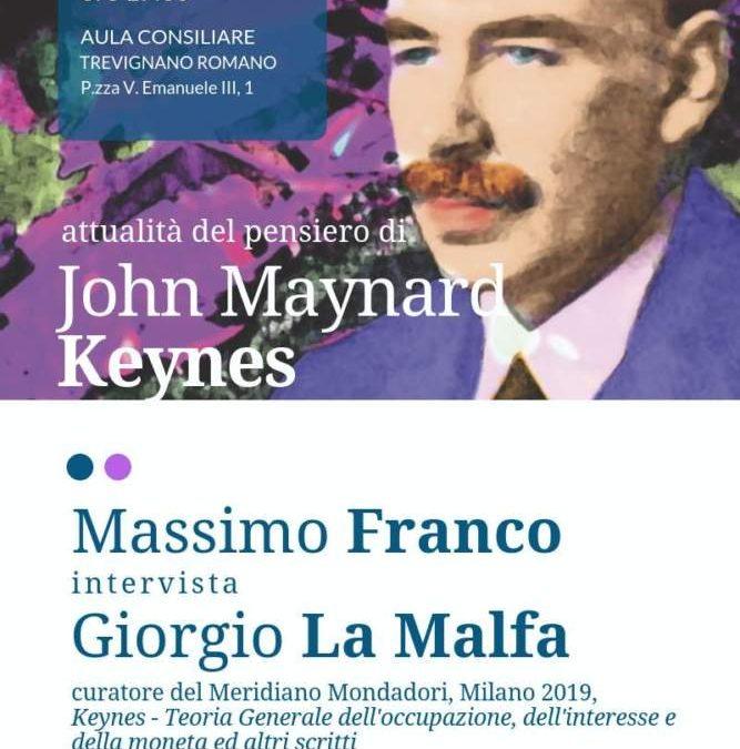 A Trevignano Roma si discute di Keynes