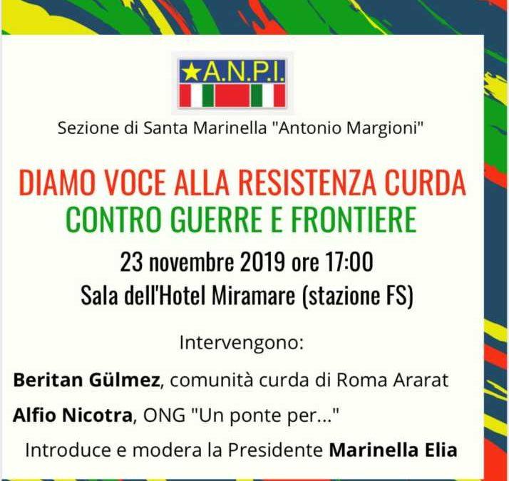 """ANPI Santa Marinella: """"Diamo voce alla resistenza curda, contro guerre e frontiere"""""""