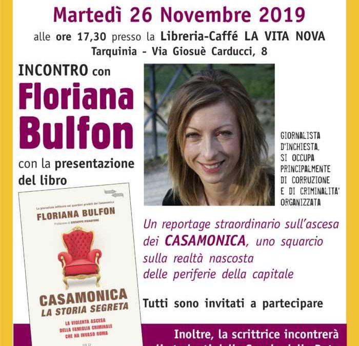 La Bulfon a Tarquinia  e Civitavecchia con il suo libro sui Casamonica
