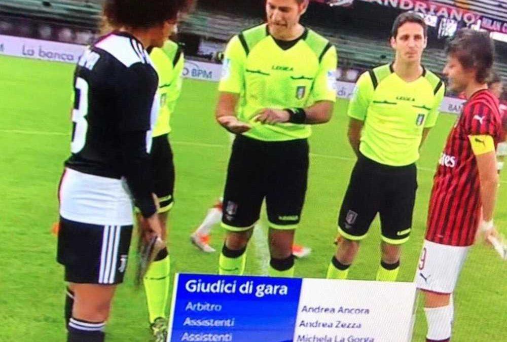 Ladispoli, il fischietto Andrea Ancora su Sky per Milan-Juve femminile
