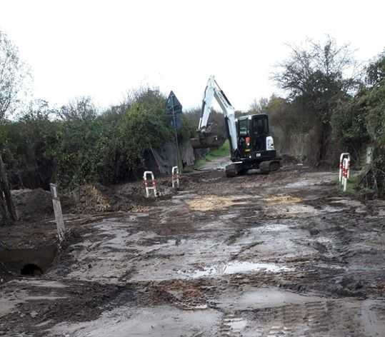 Oriolo, lavori in corso sulla strada della Castellina