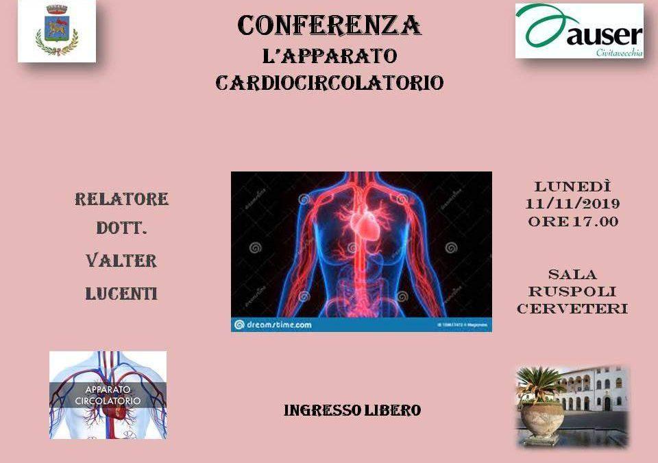 """Cerveteri, a Sala Ruspoli la conferenza AUSER """"l'apparato cardiocircolatorio"""""""