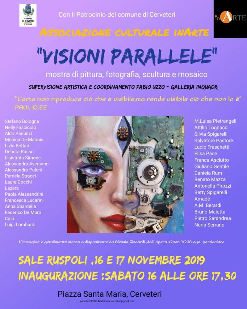 Cerveteri, InArte inaugura la collettiva Visioni Parallele - TerzoBinario.it