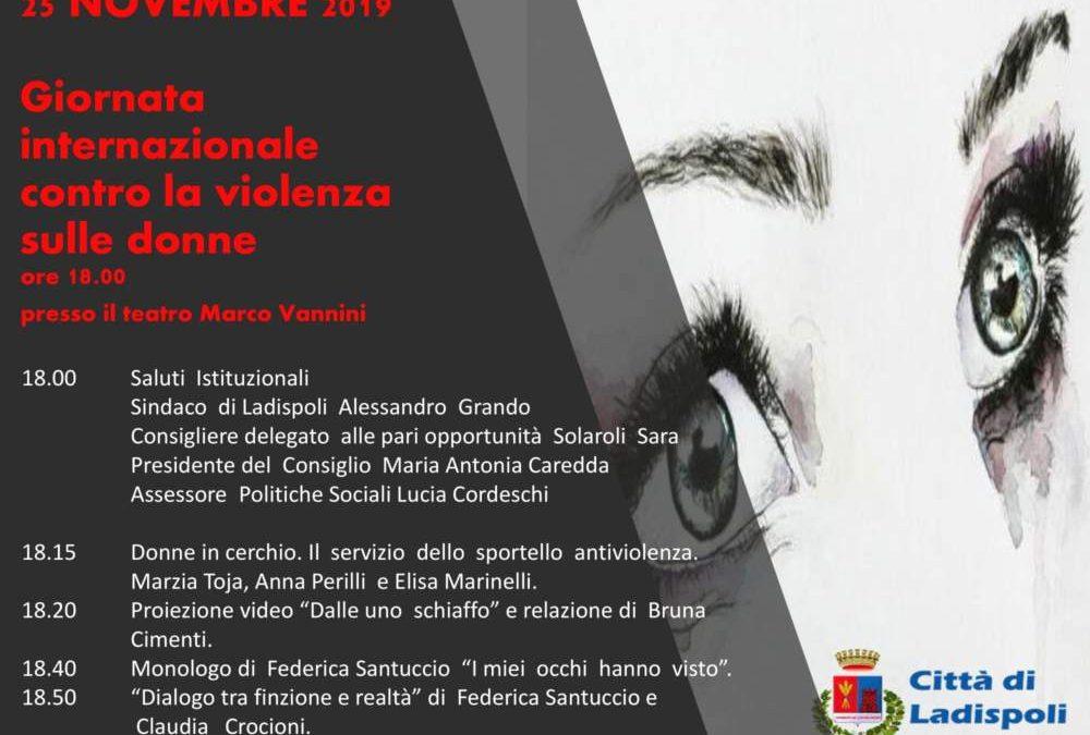 """Al teatro Vannini di Ladispoli la """"Giornata internazionale contro la violenza sulle donne"""""""