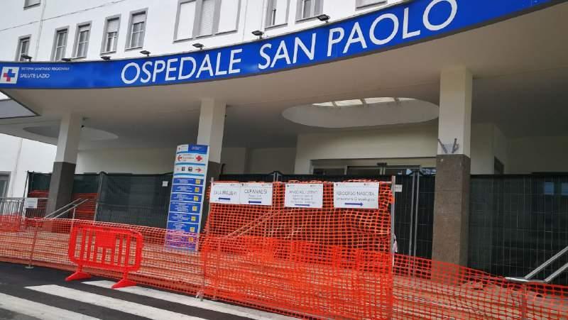 Nubifragio Civitavecchia, sale operatorie chiuse al San Paolo