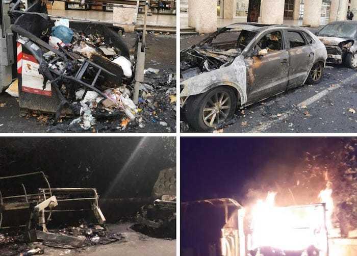 """Incendi nel Municipio VII, Lozzi: """"Balordi senza un briciolo di dignità"""""""