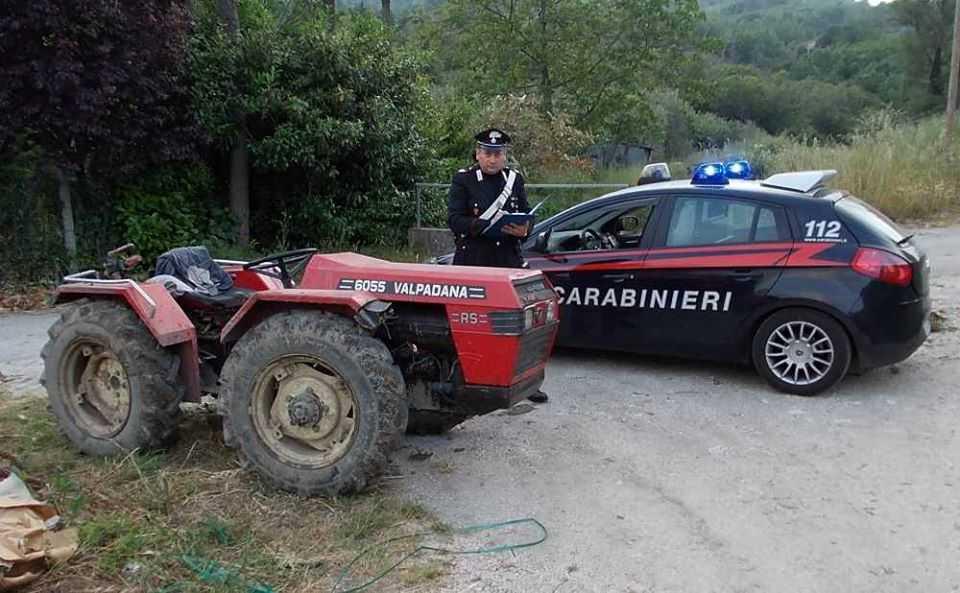 Ladri di trattori presi dai carabinieri di Bracciano